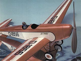 Messerschmitt M23B model airplane plan