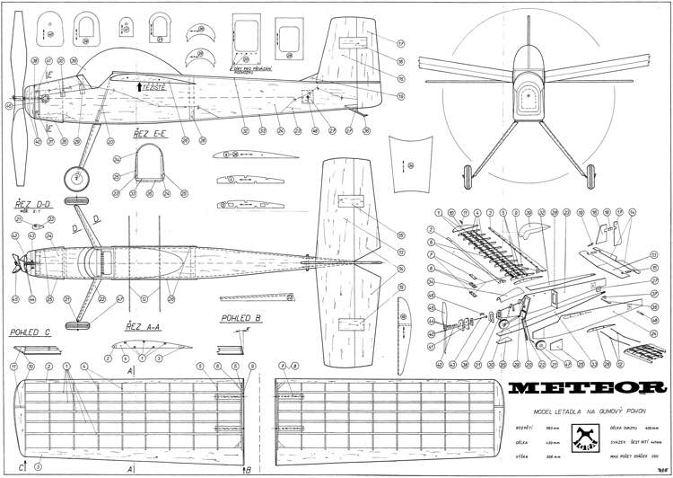 Meteor 2 model airplane plan