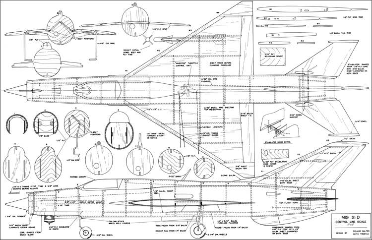 Mig 21 UC Scale Plans - AeroFred - Download Free Model ...