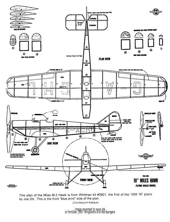 MilesM2Hawk model airplane plan