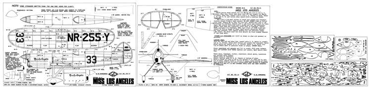 Miss Los Angles-peanut model airplane plan
