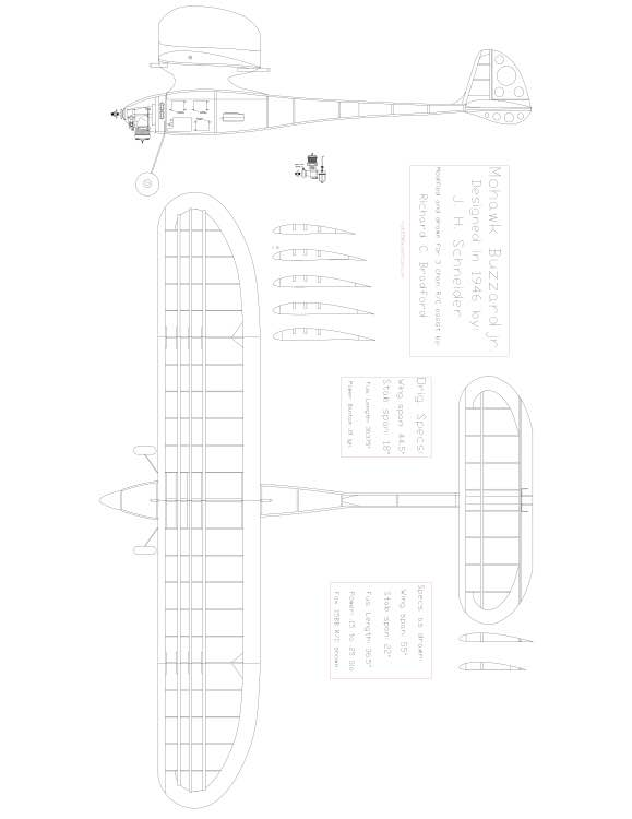 Mohawk Buzzard Jr Model 1 model airplane plan