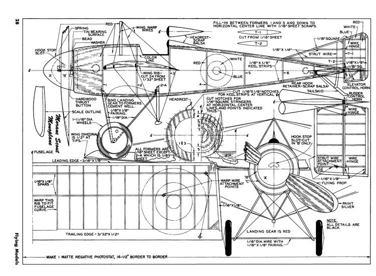 Morane Scout-FM-02-52 model airplane plan