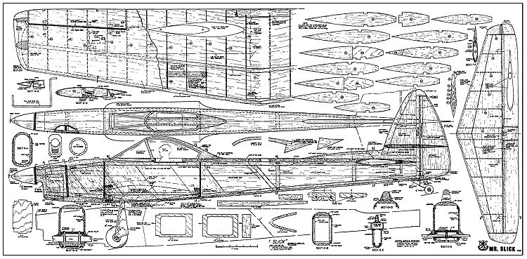 Mr Slick RCM-480 model airplane plan