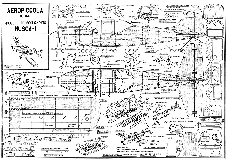 Musca-1 model airplane plan