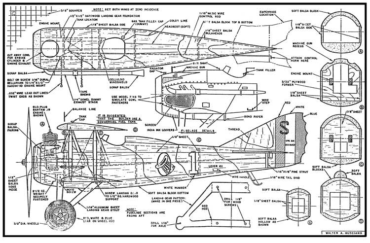 Musciano Spad model airplane plan