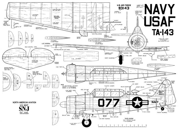 NA SNJ-MAN-05-60 model airplane plan
