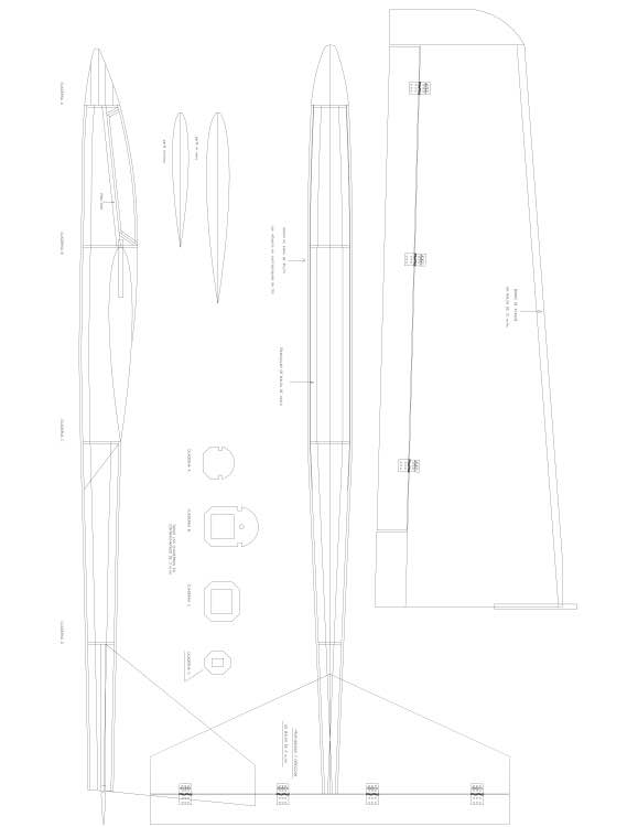 NINJA Model 1 model airplane plan