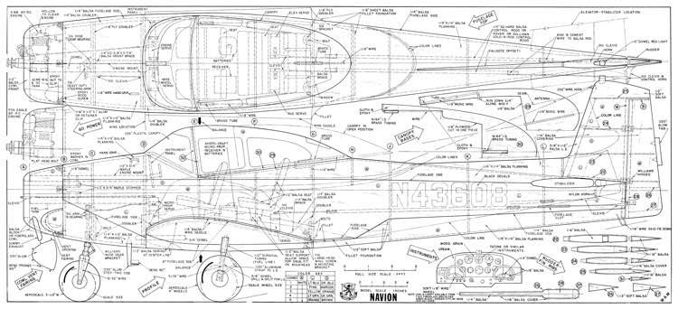 Navion 67in WAMAeroFred - Free Model Airplane Plans