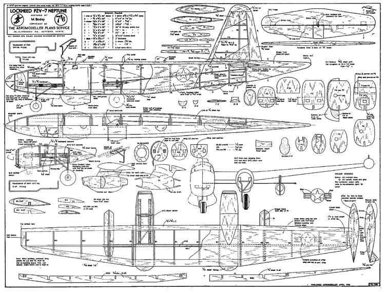 Neptune P2V-7AeroFred - Free Model Airplane Plans.