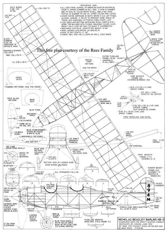 Nicolas Beasley Nb-3 Plans - Aerofred