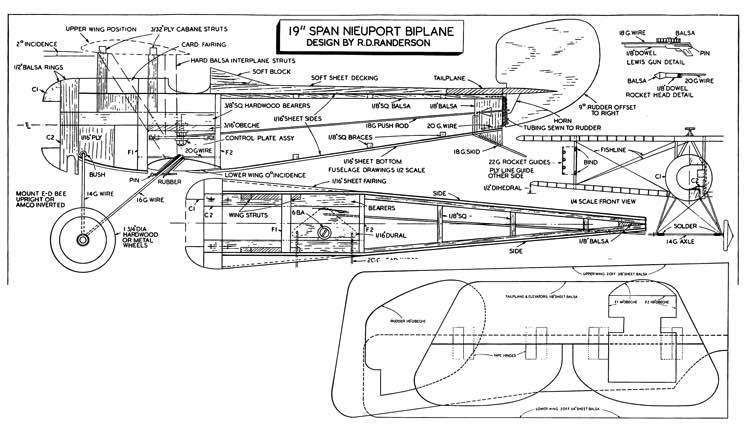 Nieport Biplane model airplane plan
