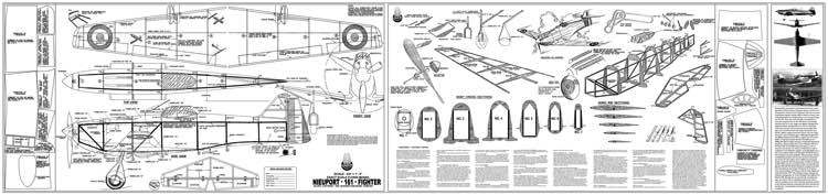 Nieuport 161 model airplane plan