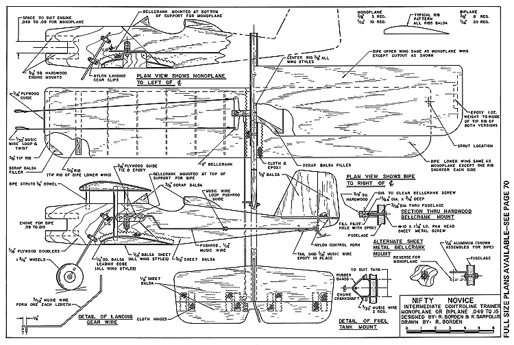 Nifty Novice-AAM-01-72 model airplane plan
