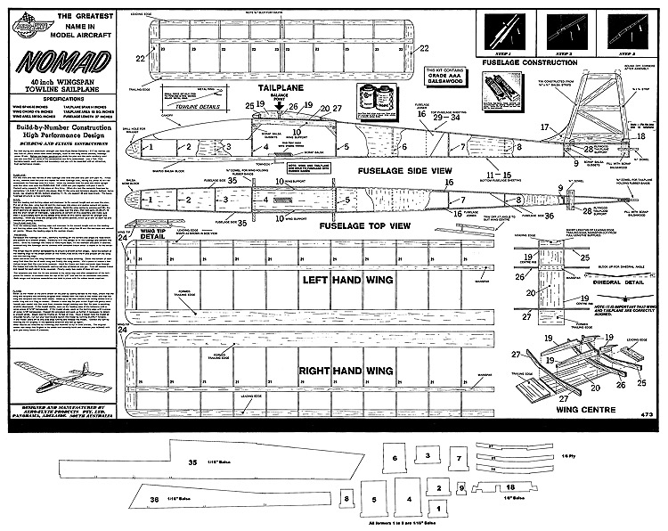 Nomad model airplane plan