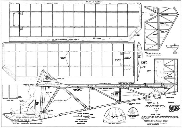 Drifty Primary Glider Plans Aerofred Download Free