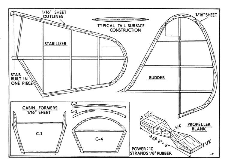 O-49 3 model airplane plan