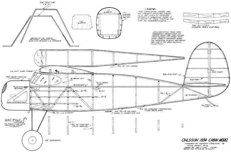 Ohlsson 1934 Cabin Model model airplane plan