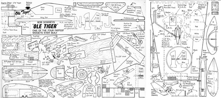 Ole Tiger model airplane plan