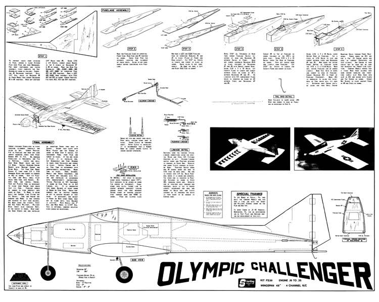 Olympic Challenger 48in model airplane plan