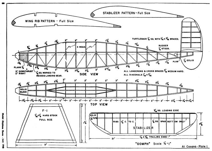 Oomph p1 model airplane plan