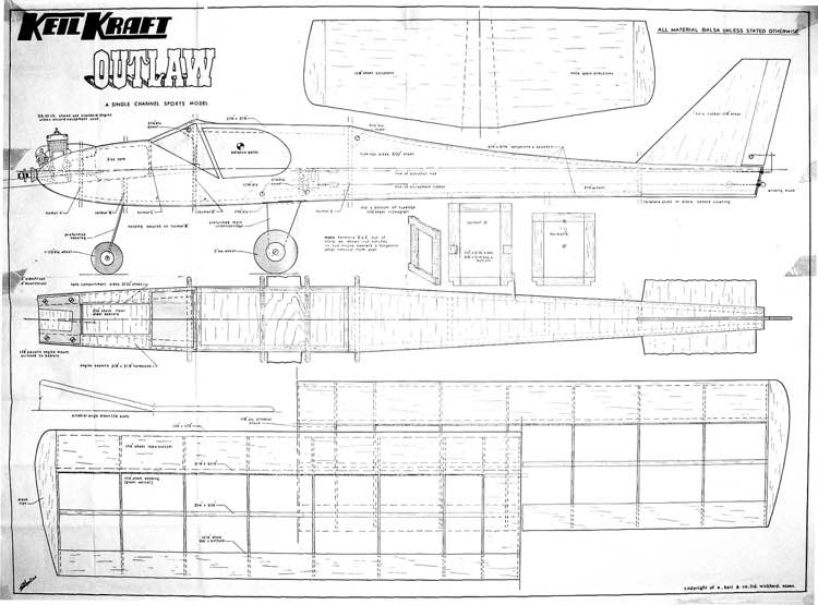 Outlaw model airplane plan
