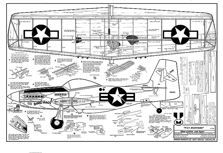 P 51 mustang plans aerofred download free model for Plan 51