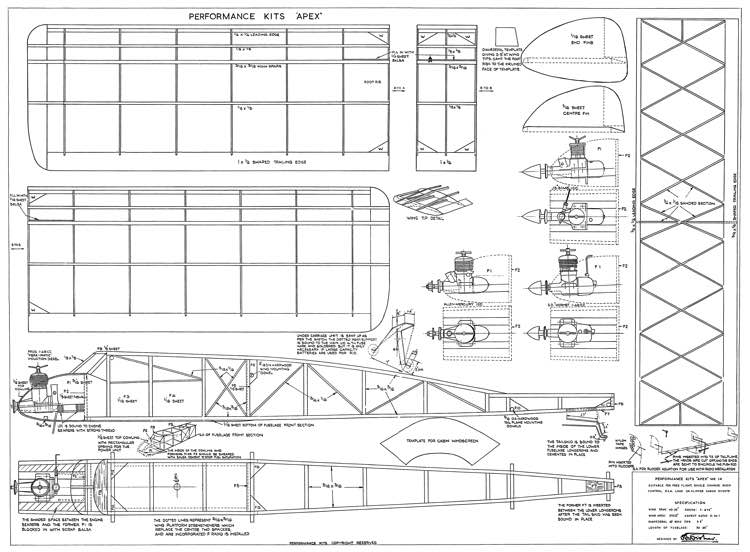 PK Apex model airplane plan