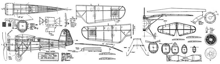 PZL-24 model airplane plan