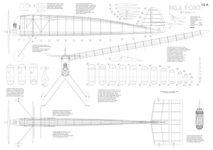 Palladoro model airplane plan