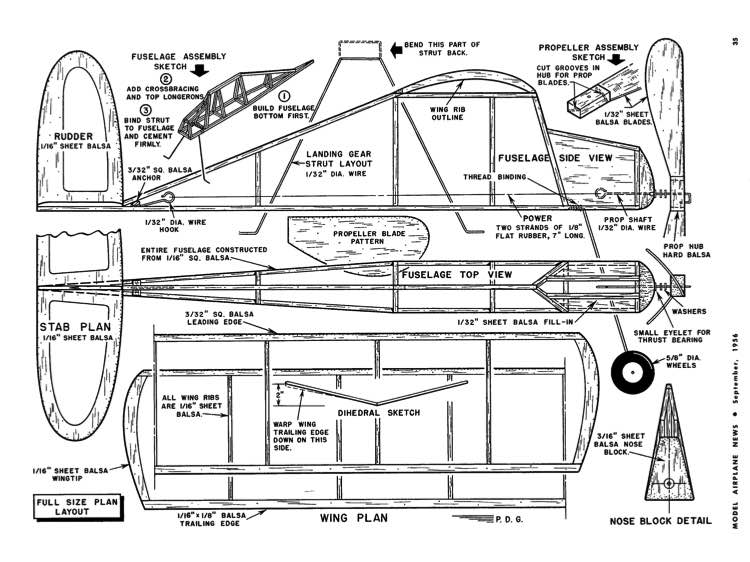 Parlor Fly-MAN-09-56 model airplane plan