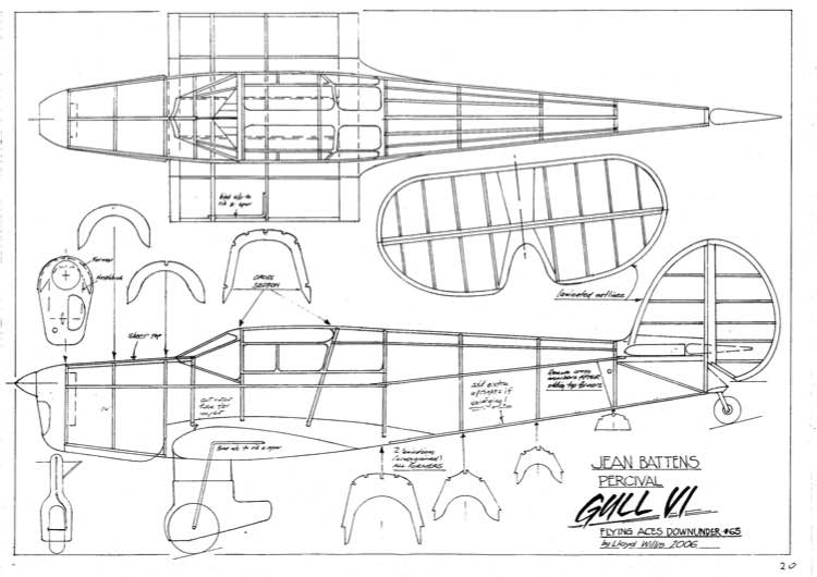 Percival Gull VI model airplane plan