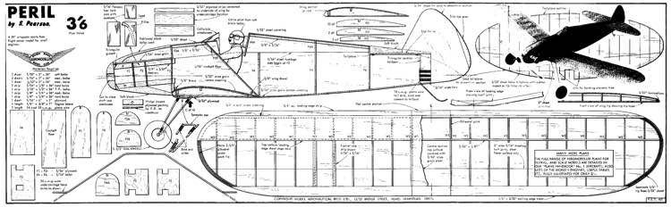 Peril complete model airplane plan