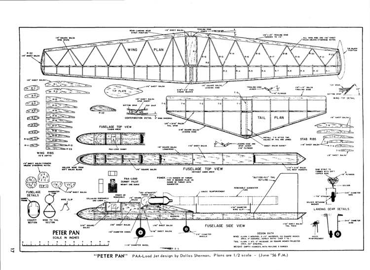 Peter Pan model airplane plan