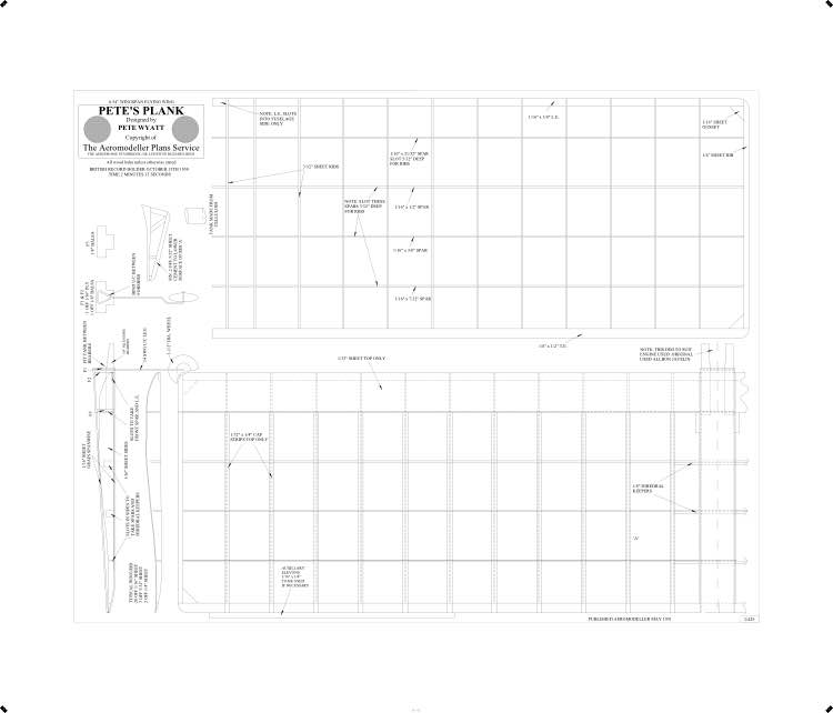 Petes Plank BW Print model airplane plan
