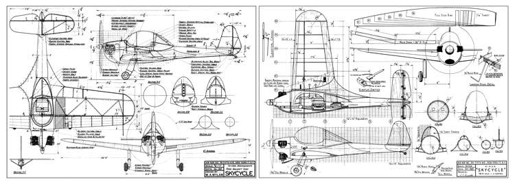 Piper Skycycle model airplane plan