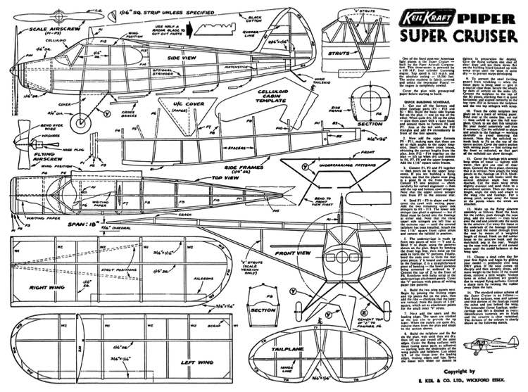 PiperSCruiser model airplane plan