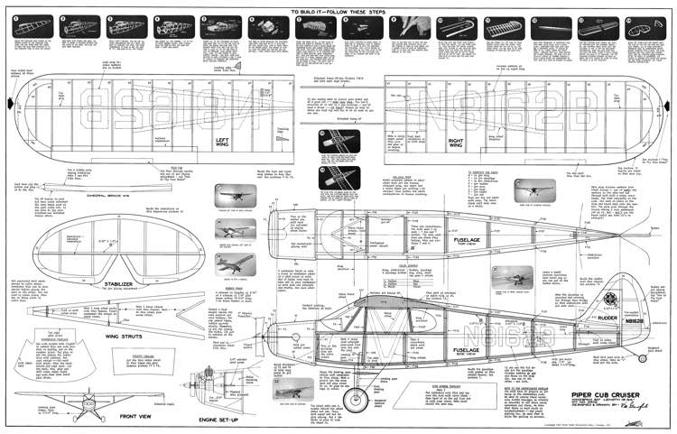Piper cub cruiser 30in plans aerofred download free for Cox plans
