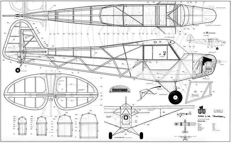 Piper Cub Svenson model airplane plan