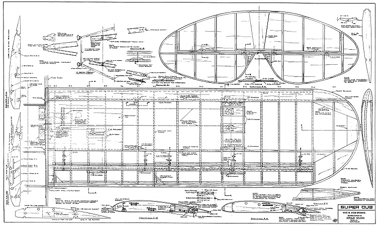 Piper Cub Airplane Blueprints – HD Wallpapers
