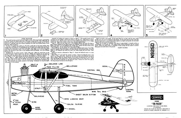 Piper TriPacer model airplane plan