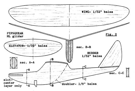 Pipsqueak model airplane plan