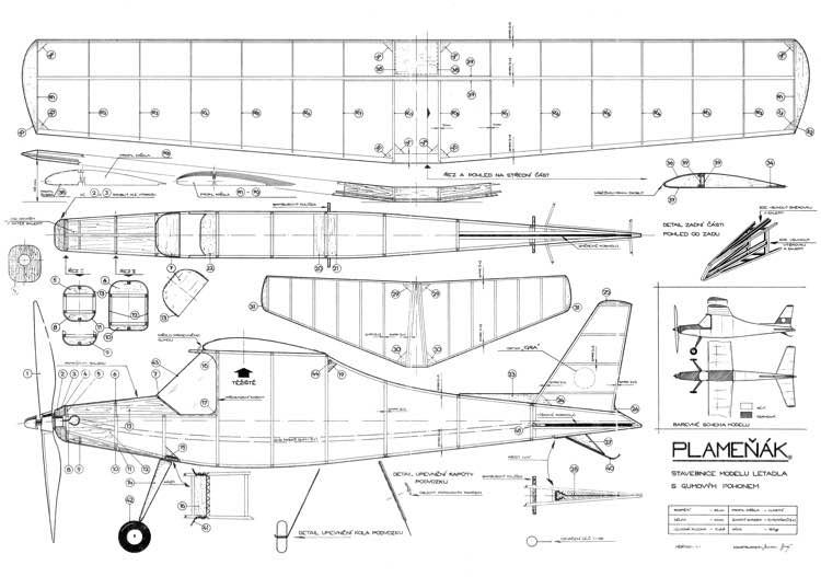 Plamenak model airplane plan