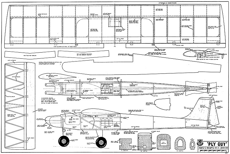 Ply Guy RCM-373 model airplane plan
