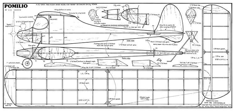 Pomilio 2 model airplane plan