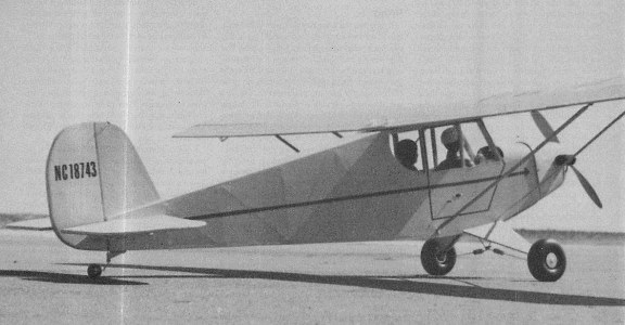Porterfield Zephyr 1937 model airplane plan