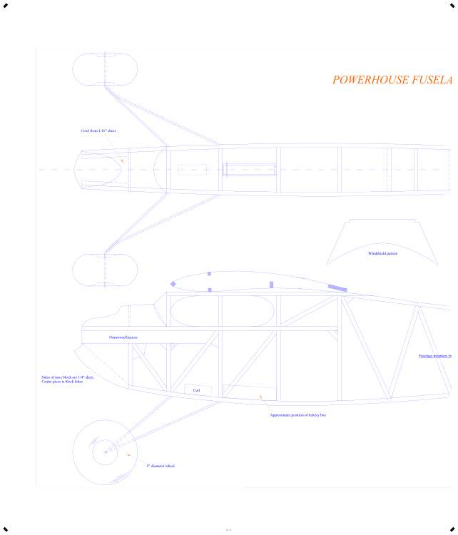 Powerhouse 84in hogal CAD model airplane plan