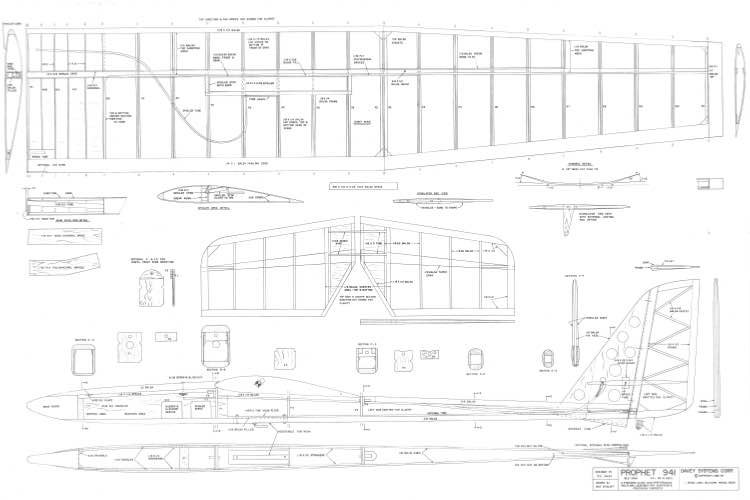 Prophet 941 model airplane plan