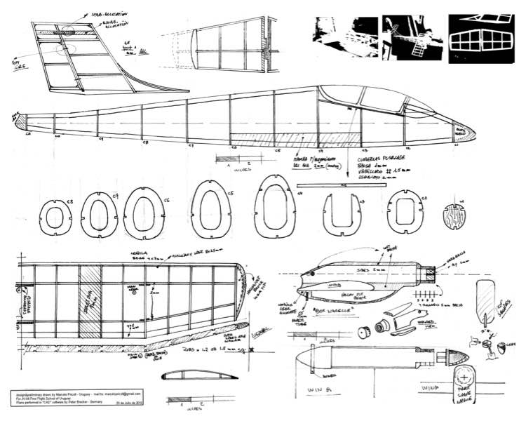 Pucara model airplane plan