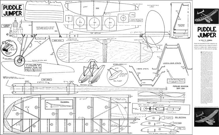 Puddle Jumper model airplane plan